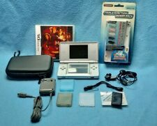Nintendo DS lite console silver + 2 games + adapter + carrying bag + accessories