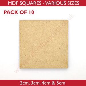 MDF Squares - 2cm, 3cm, 4cm or 5cm Wood, figure base 10 or 25 pack MDF Shape