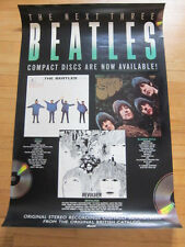 BEATLES Next 3 cds promo poster Help Revolver Rubber Soul