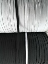 CLEARANCE 2 Metre 3mm 4mm 5mm 6mm 8mm 9mm 12mm BLACK WHITE coloured FLAT ELASTIC
