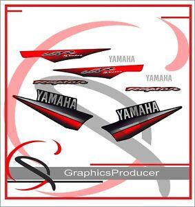 Yamaha Raptor 660 660R Replica Decals Black Model 2003 Graphic Stickers Full Set