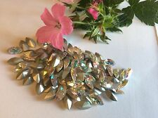 SWAROVSKI Crystal #4200 Strass Navettes AB sventate 10x5mm Confezione da 12 Craft