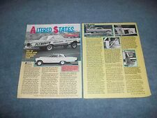 """1965 Dodge & Plymouth F/X Hemi Drag Car History Info Article """"Altered States"""""""