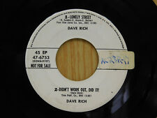 Dave Rich And Jim Reeves 45 Lonely street / Am I Losing You ~ No Lable VG to VG+