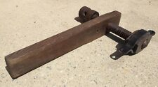 ANTIQUE CARPENTER'S  WOOD SCREW/ BENCH VICE / CLAMP - Refinished & Excellent