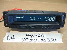 2003-05 HYUNDAI XG300/XG350 CENTER DISPLAY/ DIGITAL CLOCK