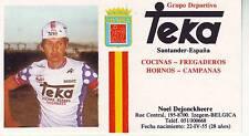 CYCLISME carte NOEL DEJONCKHEERE (equipe TEKA)