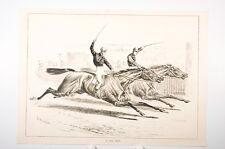 arrivée d'une course de chevaux, Angleterre fin XIX° Siècle