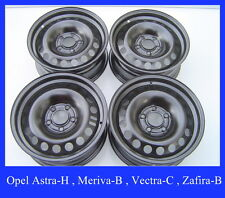 4 Stahlfelgen Opel Astra-H , Meriva-B , Vectra-C , Zafira-B  6,5Jx15 ET35  9245