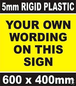 CUSTOM MADE BESPOKE SIGN No Parking Warning Advertising