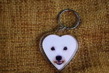 Bichon Frise Gift Keyring Dog Key Ring heart Birthday Gift