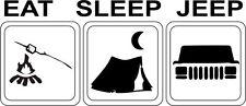 "jeep , ""eat sleep jeep xj"" sticker black gloss vinyl"