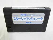 MSX STAR SHIP SIMULATOR Cartridge only Import Japan Video Game msx