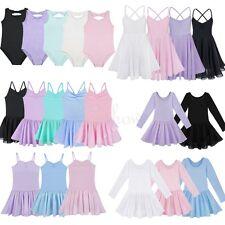 Kids Leotard Unitard Girls Ballet Dance Fancy Dress Ballerina Dancing Costumes