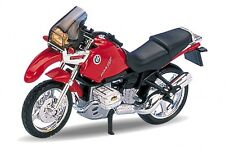 BMW R1100 GS Rojo, Welly Motocicleta Modelo 1:18