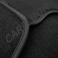 Für BMW 6er E64 Fußmatten Velours Deluxe schwarz mit Nubukband schwarz