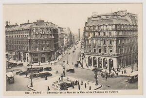 Frankreich Postkarte - Paris, Carrefour De La Rue Paix Et De L'Avenue (A233)