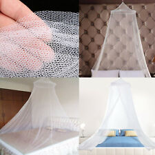 Mosquito Net Bed Queen Size Home Bedding Lace Canopy Elegant Netting White 40ft