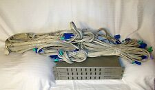 IOGEAR MiniView SE GCS138 8 Port PS/2 KVM Switch With Cables NO AC Adapter