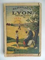 Almanach de La Lyon Republicano 1928 ( Buena Aventura De Mano)