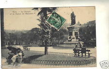 06 - cpa - NICE - Le square et la statue de Masséna ( i 783)