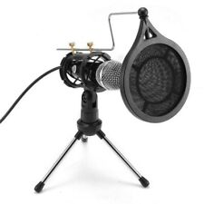 Condenser 3.5mm Microphone Tripod Stand for Game Chat Studio Recording Laptop PC