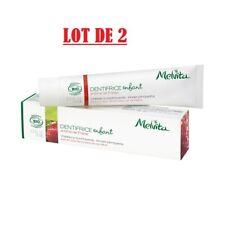 MELVITA Lot de 2 Dentifrices pour enfant arôme fraise - 2 x 75ml - BIO - Neuf