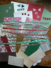 CHRISTMAS 2 - Contrast CARD KITS with 4 Contrast Cardstock12x6& Ribbons Mixture