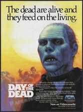 DAY OF THE DEAD__Original 1986 Print AD / ADVERT / mini-poster__George A. Romero