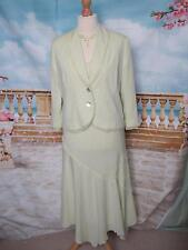 Designer Dress and Jacket Suit 14 Wedding Occasion Outfit Green Summer Cruise