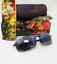 New Maui Jim Polarized Lighthouse Gloss Black / Neutral Grey Sunglasses 423-02