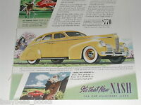 1939 NASH advertisement, Nash Sedan, color art