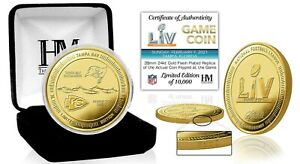 Super Bowl LV 55 Official Highland Mint Gold Coin Kansas City Chiefs Tampa Bay