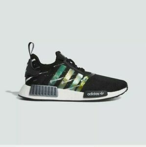 Adidas NMD R1 Meteor Shower Black Womens Lifestyle Boost shoes FW3331 Sz 5.5 NEW