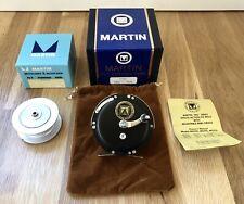 Very Nice MARTIN MG-7SS Fly Fishing Reel w/ Box and Extra Spool NR