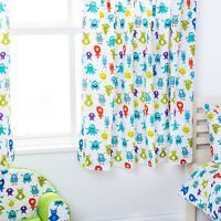"Monsters Aliens Children's Kids Curtains 66""x54"" Tiebacks Nursery Bedding Blinds"