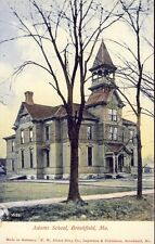 BROOKFIELD MISSOURI ADAMS SCHOOL circa 1908 Postcard