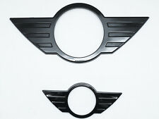 Front & Rear Glossy Black Emblem Badge Cover For Mini Cooper Countryman R60 Mk1