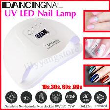 SUN X5 80W Infrared Sensor 36 UV LED Nail Dryer Lamp Curing Gel Manicure Machine
