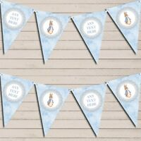 Baby Blue Peter Rabbit Personalised Baby Shower Bunting