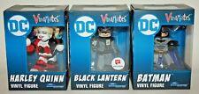 Lot of 3 Vinimates DC Comics Figures - BATMAN, HARLEY QUINN & BLACK LANTERN