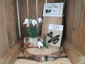 Snowdrops - Needle Felting Kit, Templates & Tutorial