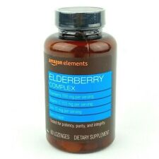 Amazon Elements Elderberry Complex With Vitamin C & Zinc - 60 Lozenges