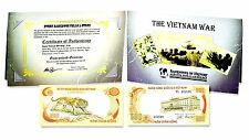 The Vietnam War 500 Dong Single Banknote, Folder,Certificate and Story