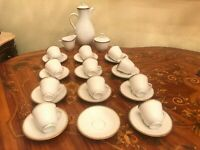RARE 11 Cups 11 Saucers Swedish Vintage Rorstrand Porcelain Coffee Set