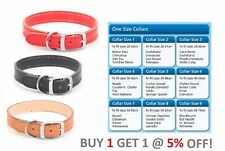 Ancol Heritage Quality Handsewn Leather Dog Puppy Collar Red Black and Beige