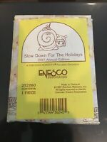 Precious Moments Ornament Slow Down For The Holidays Turtle 1997 MIB