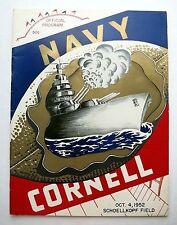1952 Navy - Cornell Football Schoellkopf Field Game Program Nice Condition!