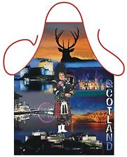 UNISEX NOVELTY APRON,SCOTLAND THEME DESIGN,HIGHLAND GAMES,KITCHEN,BBQ APRON