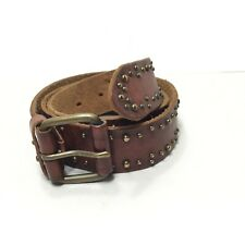 Women's American Eagle Outfitters Brown Studded Tooled Leather Belt SZ Small
